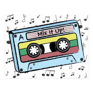 漫画のカセットテープ及び音楽ノート(組合せそれ) ポストカード