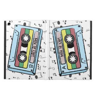 漫画のカセットテープ及び音楽ノート- A&Bの上のそれを混合して下さい