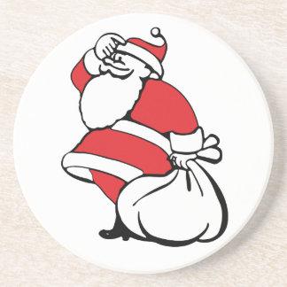 漫画のクリスマスすてきなサンタクロースのおもちゃの袋 コースター