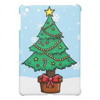 漫画のクリスマスツリー iPad MINIケース