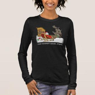 漫画のシュミツトの家のおもしろいなワイシャツ 長袖Tシャツ