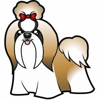 漫画のシーズー(犬) Tzu (切られるショー) 写真彫刻マグネット