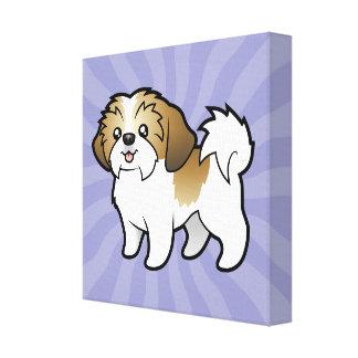 漫画のシーズー(犬) Tzu (切られる子犬) キャンバスプリント