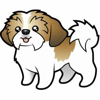 漫画のシーズー(犬) Tzu (切られる子犬) 写真彫刻マグネット