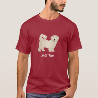 漫画のシーズー(犬) Tzu Tシャツ