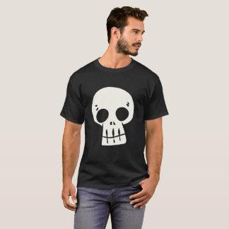 漫画のスカルのワイシャツ Tシャツ