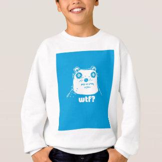 漫画のスタイルの青いくま スウェットシャツ