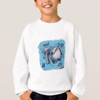 漫画のスタイルの飛んでいるなdumbo象 スウェットシャツ