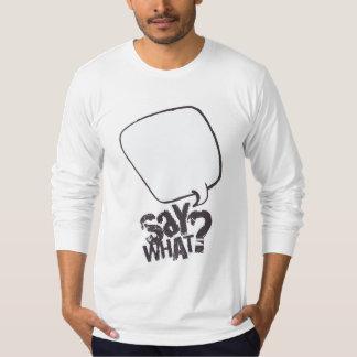 漫画のスピーチの泡ワイシャツの白 Tシャツ