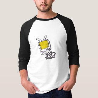 漫画のスピーチの泡ワイシャツの黄色 Tシャツ