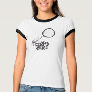 漫画のスピーチの泡Tシャツの白 Tシャツ