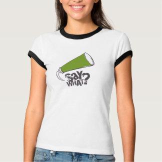 漫画のスピーチの泡Tシャツの緑 Tシャツ