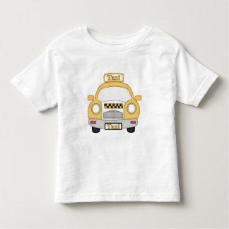 漫画のタクシーの幼児の男の子のTシャツ トドラーTシャツ
