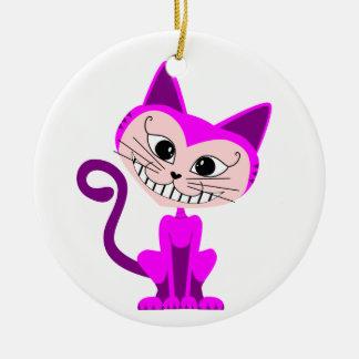 漫画のチェシャー猫-不思議の国のアリス セラミックオーナメント