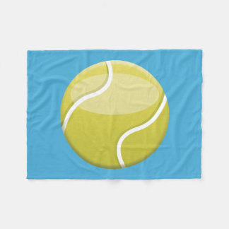 漫画のテニス・ボール フリースブランケット