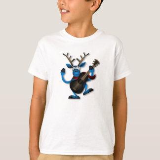 漫画のトナカイ-子供のTシャツ Tシャツ