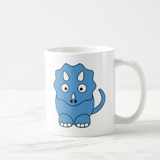 漫画のトリケラトプス(青い) コーヒーマグカップ