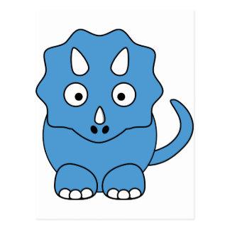 漫画のトリケラトプス(青い) ポストカード