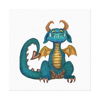 漫画のドラゴンのキャンバスのプリント(無署名の) キャンバスプリント