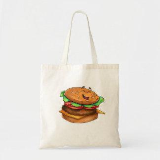 漫画のハンバーガーのバッグ トートバッグ