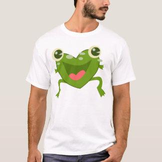漫画のハートのカエル Tシャツ