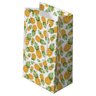 漫画のパイナップルパターン スモールペーパーバッグ