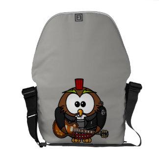 漫画のパンクのフクロウのメッセンジャーバッグ クーリエバッグ