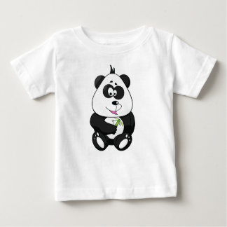 漫画のパンダのワイシャツ ベビーTシャツ