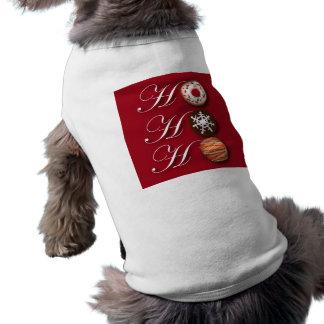 漫画のパン屋ドーナツクリスマスのクッキーHoHoHo ペット服