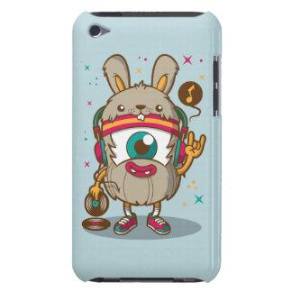 漫画のビニールを持つサイケデリックなハムスターのウサギDJ Case-Mate iPod TOUCH ケース