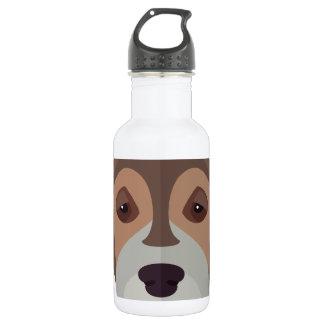 漫画のビーグル犬の頭部 ウォーターボトル