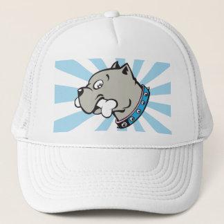 漫画のピットブルのヘッド青いビーム帽子 キャップ