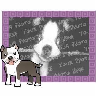 漫画のピットブル/アメリカ(犬)スタッフォードテリア 写真彫刻マグネット