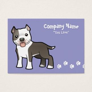 漫画のピットブル/アメリカ(犬)スタッフォードテリア 名刺