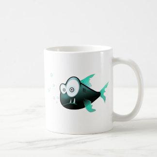 漫画のピラニア コーヒーマグカップ