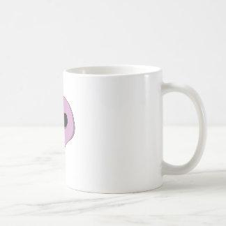 漫画のピンクのスカル コーヒーマグカップ