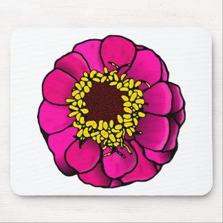 漫画のピンクの《植物》百日草 マウスパッド