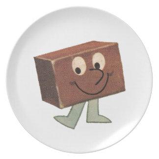 漫画のファッジチョコレートヴィンテージのMelmacのレトロのプレート プレート