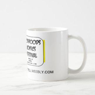 漫画のフェスティバルのロゴのコーヒー・マグ コーヒーマグカップ