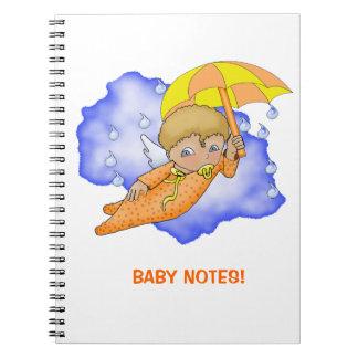 漫画のベビーの天使のノート ノートブック