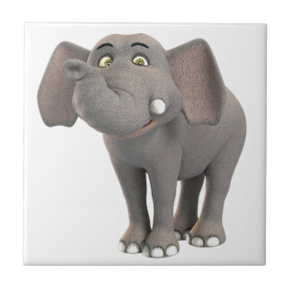 漫画のベビー象の微笑 タイル