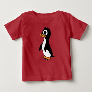 漫画のペンギンのワイシャツ ベビーTシャツ