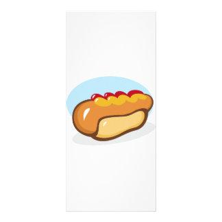 漫画のホットドッグのホットドッグのケチャップの風味のメーヨーのマスタード ラックカード