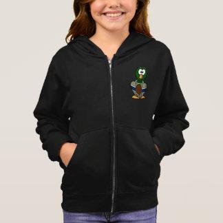 漫画のマガモのアヒルの女の子のフード付きスウェットシャツ スウェットシャツ