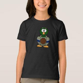 漫画のマガモのアヒルの女の子のTシャツ Tシャツ