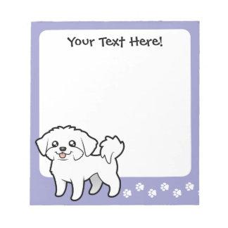 漫画のマルチーズ(切られる子犬) ノートパッド