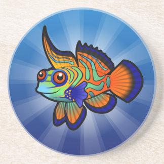 漫画のマンダリン/Dragonetの魚 コースター