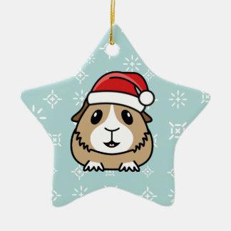 漫画のモルモットのクリスマスの星のオーナメント セラミックオーナメント