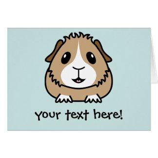 漫画のモルモットの挨拶状 カード