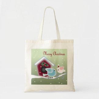 漫画のヤドリギ愛鳥私達の初めてのクリスマス トートバッグ